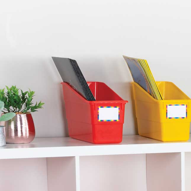 Durable Book And Binder Holders – 3 Group Colors – Set Of 6