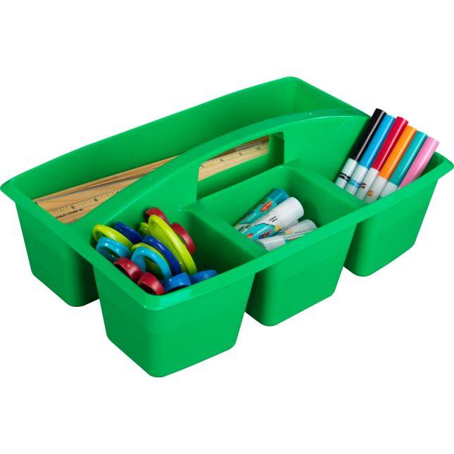 Multi-Use Storage Caddies – Single Color – Set Of 12 - Green