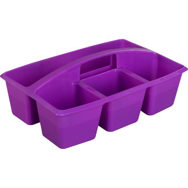Multi-Use Storage Caddies – Single Color – Set Of 12 - Purple