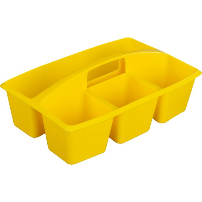 Multi-Use Storage Caddies – Single Color – Set Of 12 - Yellow