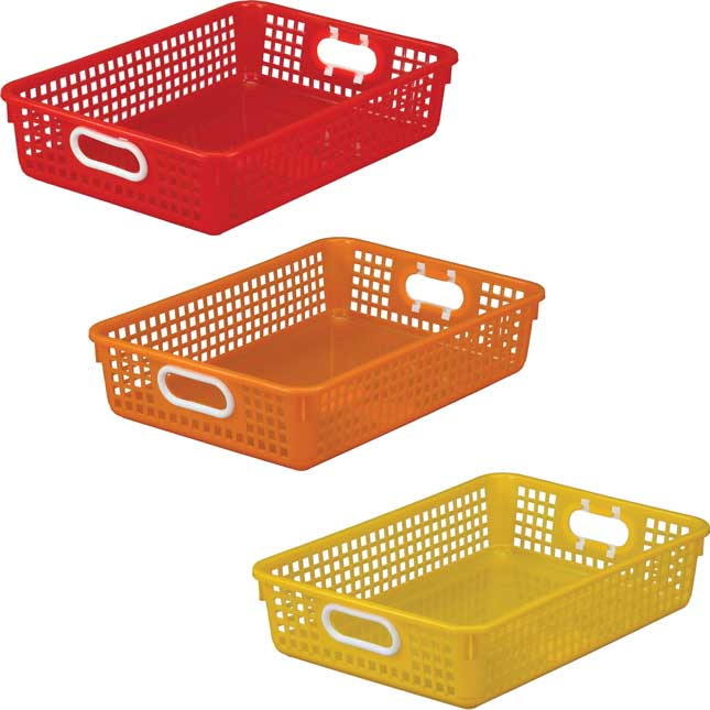 Classroom Paper Baskets – 3 Group Colors – Set Of 6