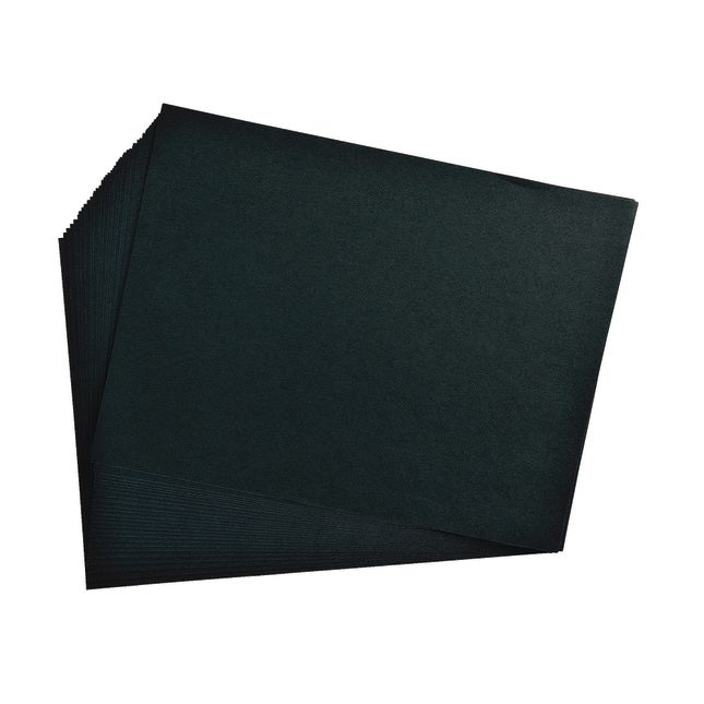 Black 9  x 12 Heavyweight Construction Paper Pack - 50 Sheets