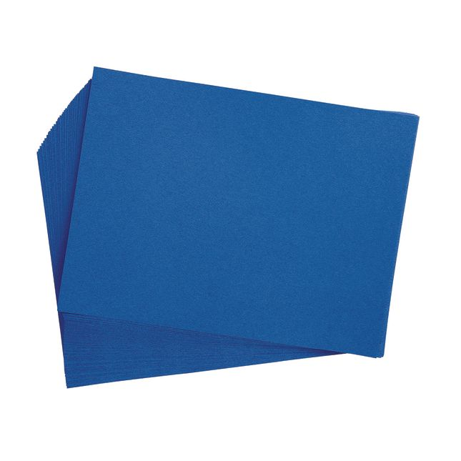 Bright Blue 9 x 12 Heavyweight Construction Paper Pack - 50 Sheets