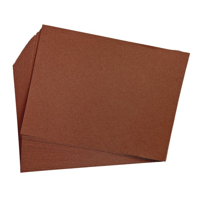 Dark Brown 9 x 12 Heavyweight Construction Paper Pack - 50 Sheets