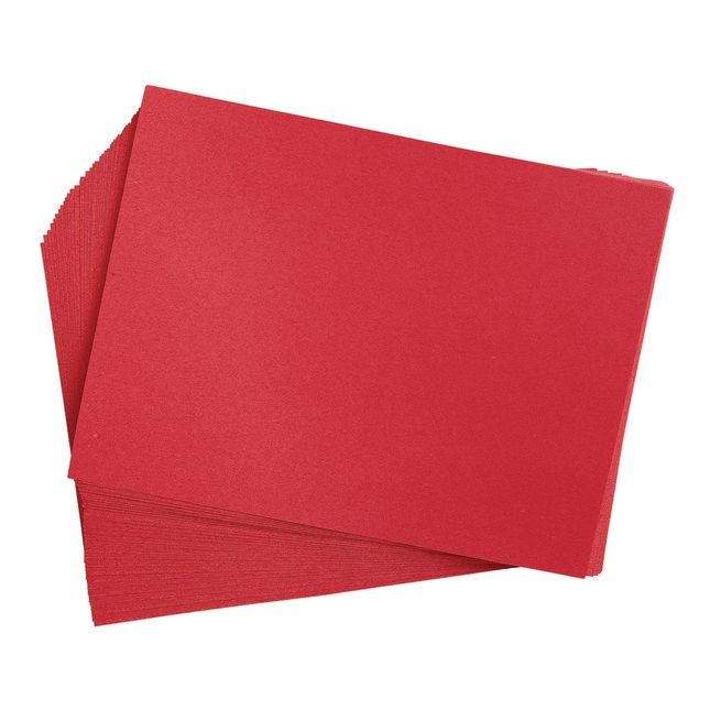 Holiday Red 9 x 12 Heavyweight Construction Paper Pack - 50 Sheets