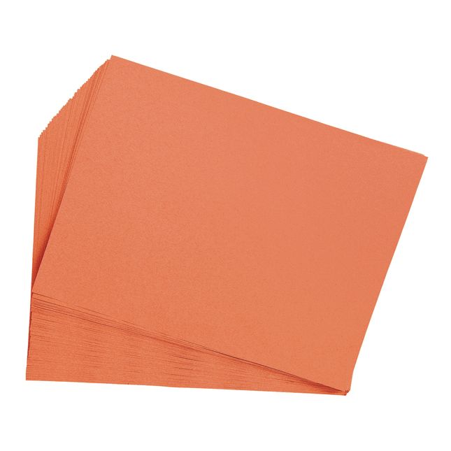 Orange 9 x 12 Heavyweight Construction Paper Pack - 50 Sheets