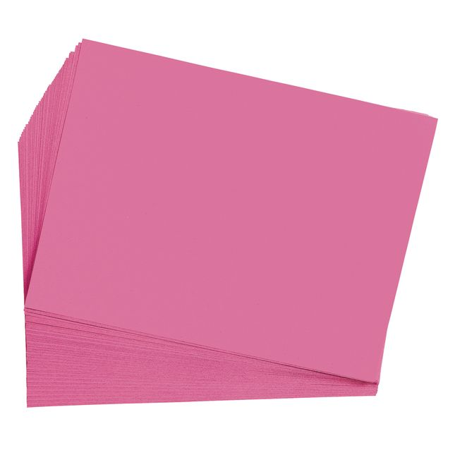 Hot Pink 9 x 12 Heavyweight Construction Paper Pack - 50 Sheets