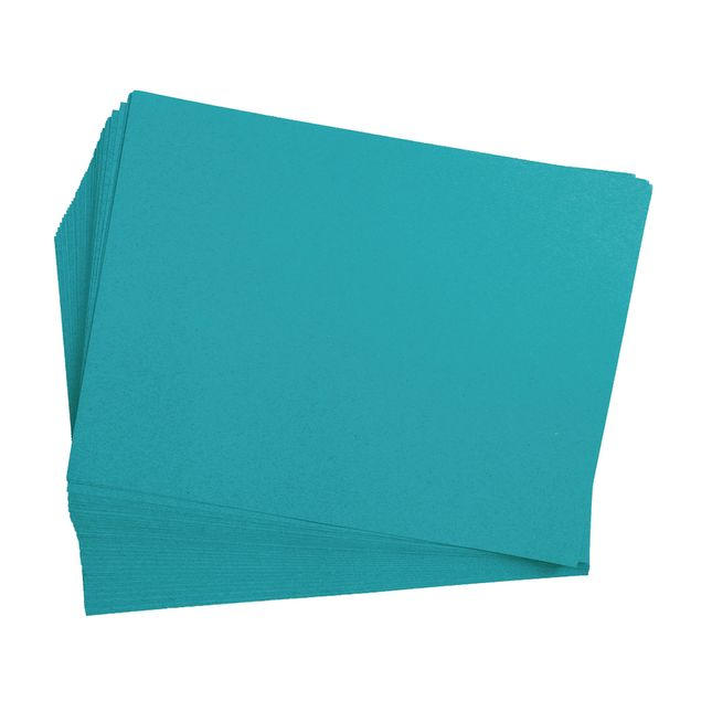 Turquoise 9 x 12 Heavyweight Construction Paper Pack - 50 Sheets