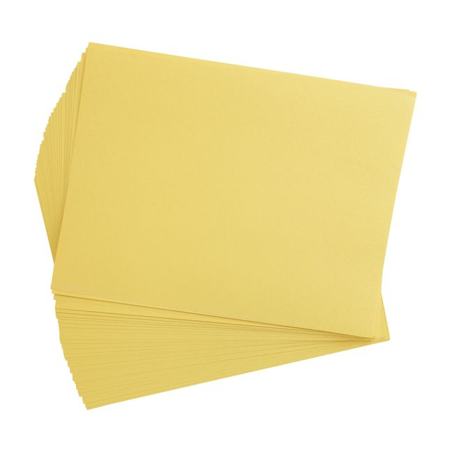 Yellow 9 x 12 Heavyweight Construction Paper Pack - 50 Sheets