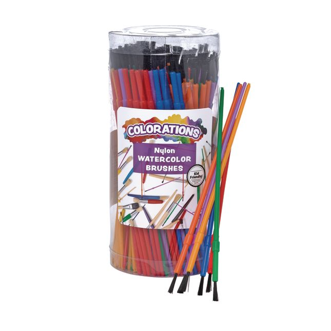 Colorations Watercolor Paintbrush Classroom Pack 144 Pieces