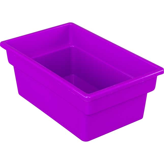 Oak 6 Slot Mail And Supplies Center With 6 Trays 6 Cubbies And 6 Bins Single Color   Purple