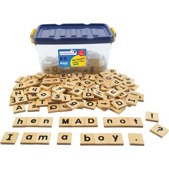 Excellerations Big Wooden Letter Tiles Tub of 250