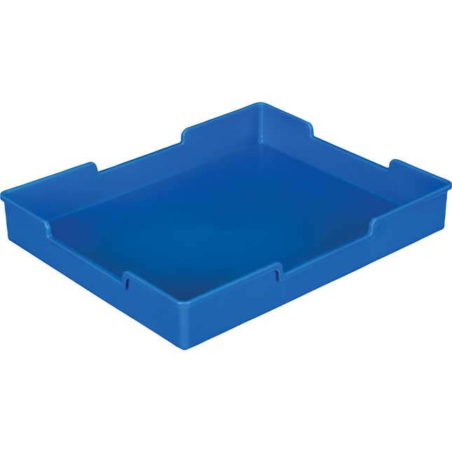 Black 18-Slot Mail Center With Trays - Single Colors - Blue