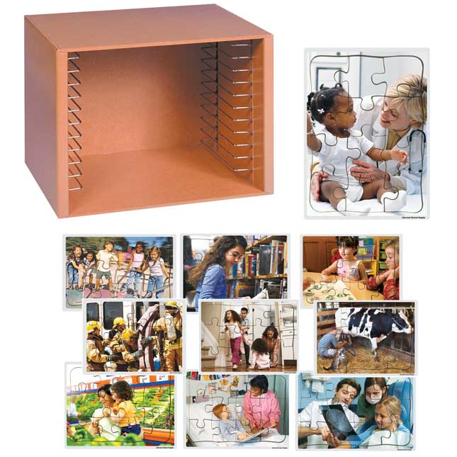 Community Puzzles and Rack Set Set of 12