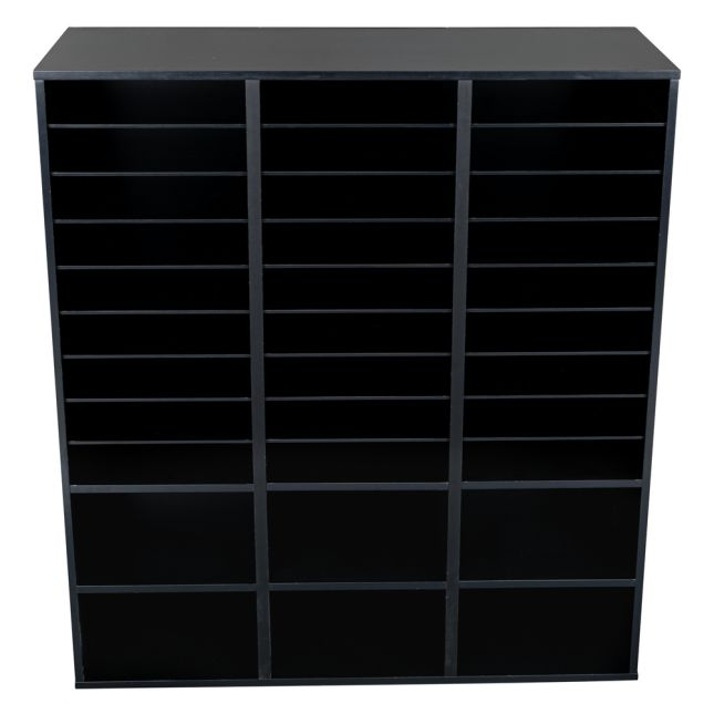 Black 27 Slot Mail And Supplies Center With 27 Trays 6 Cubbies And Baskets Single Color   Blue