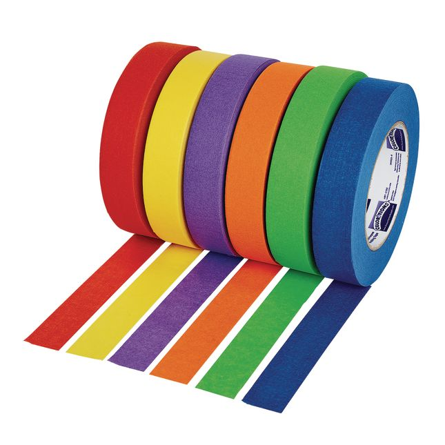 """Colorations® 1"""" Colored Masking Tape, Set of 6"""