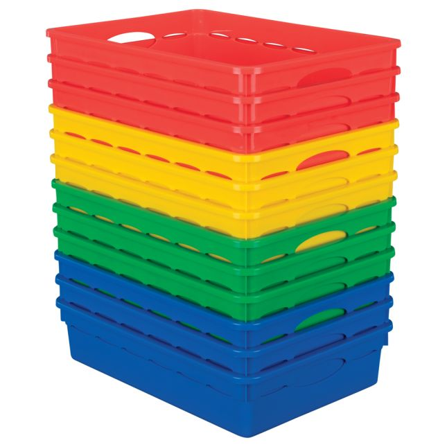 Paper Basket Organizers Set Of 12 4 Colors
