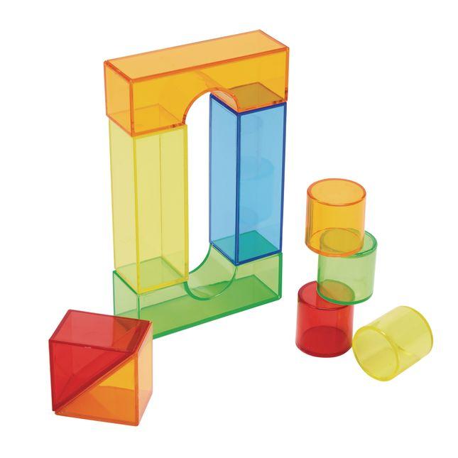 Excellerations STEM Translucent Light Blocks Set of 100 in a Bin