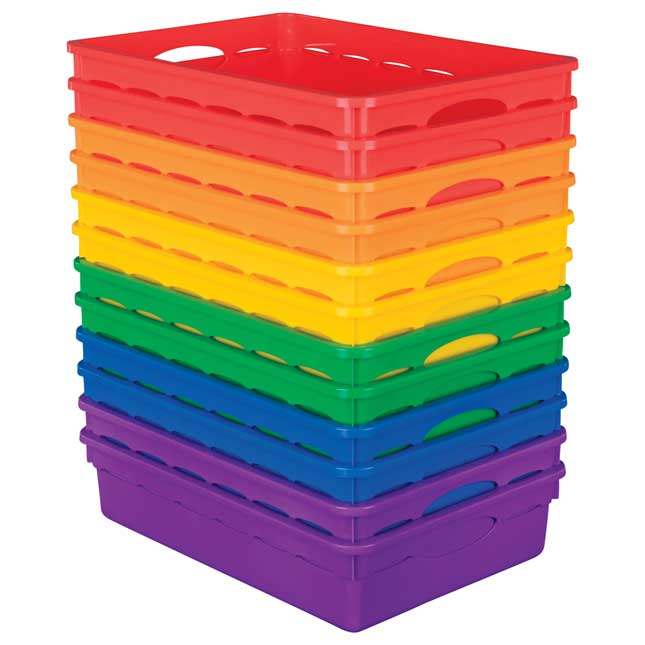 Paper Basket Organizers Set Of 12 6 Colors