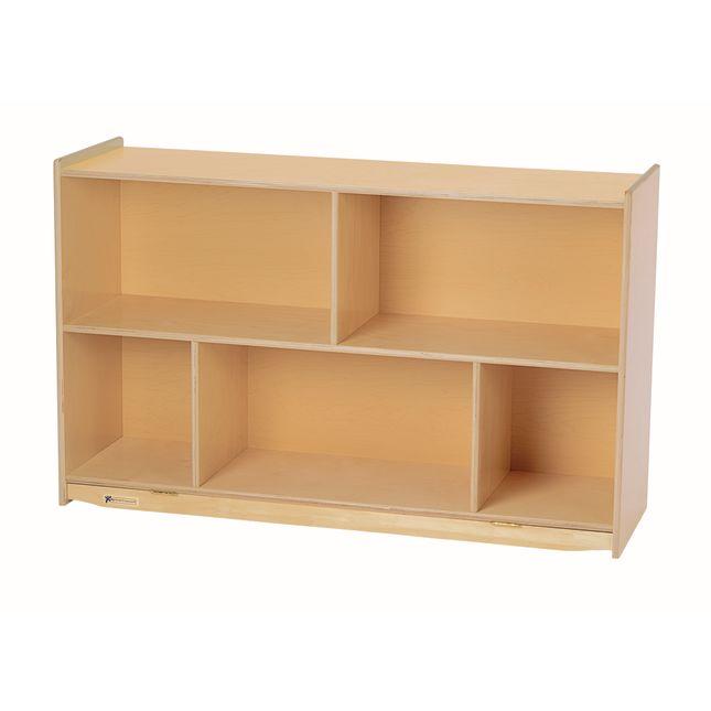 "MyPerfectClassroom® 29""H Divided Shelf Mobile Storage"