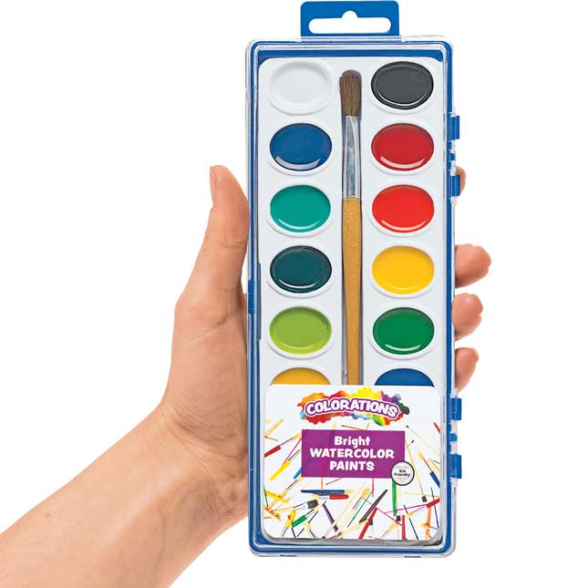 Colorations 16 Color Watercolor Classroom Pack Set of 40