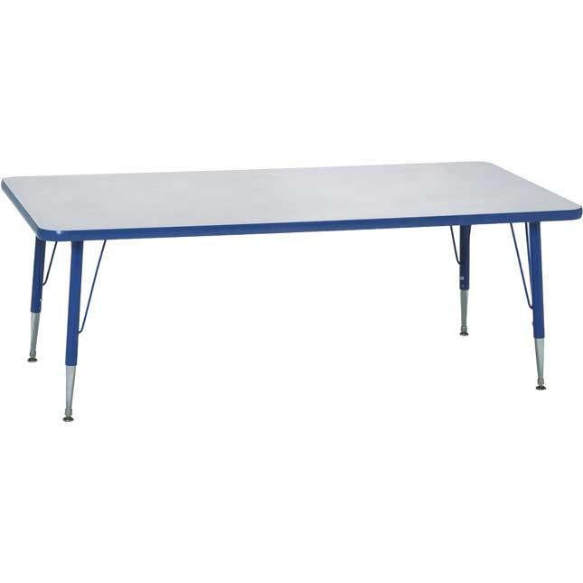 Blue 18 25H, 30 x 60 Rectangle Scholar Craft Activity Table