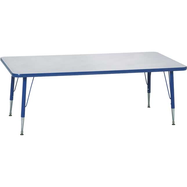 Blue Scholar Craft Rectangle Activity Table 22 30H, 30 x 60
