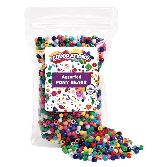 Colorations Pony Beads 1 lb_1