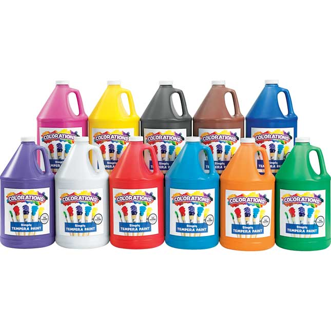 Colorations  Simply Tempera Paints, Gallons Set of all 11