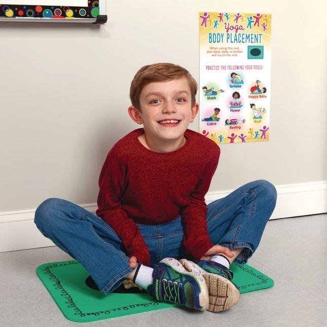 Mini Yoga Mats and Poster Set