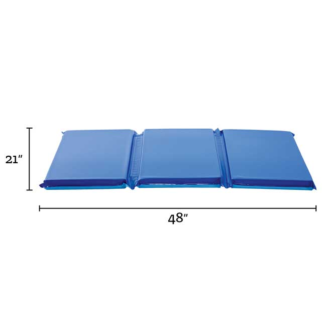 2 Germfree Two Tone Blue Rest Mats Set of 6