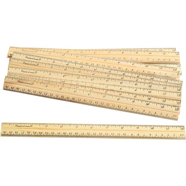 Excellerations Wooden Rulers Set of 12