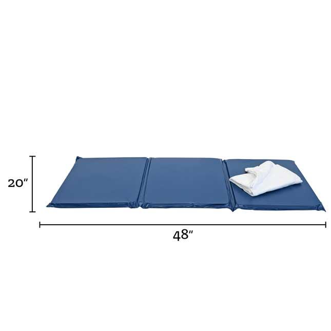 "1"" Best Value Tri- Fold Rest Mat - Blue"