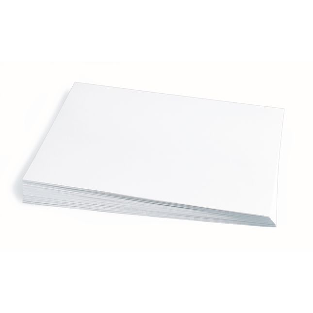 White 12 x 18 Heavyweight Construction Paper