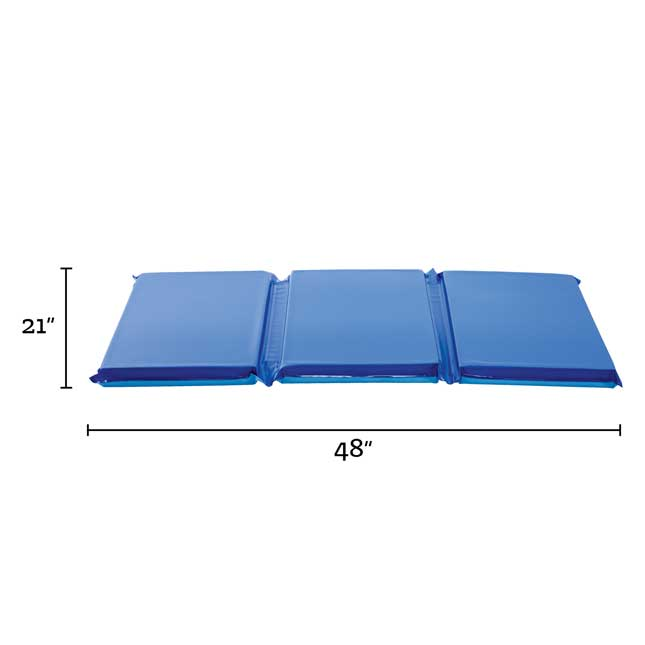 """2"""" Germ-Free Two-Tone Blue Rest Mat"""