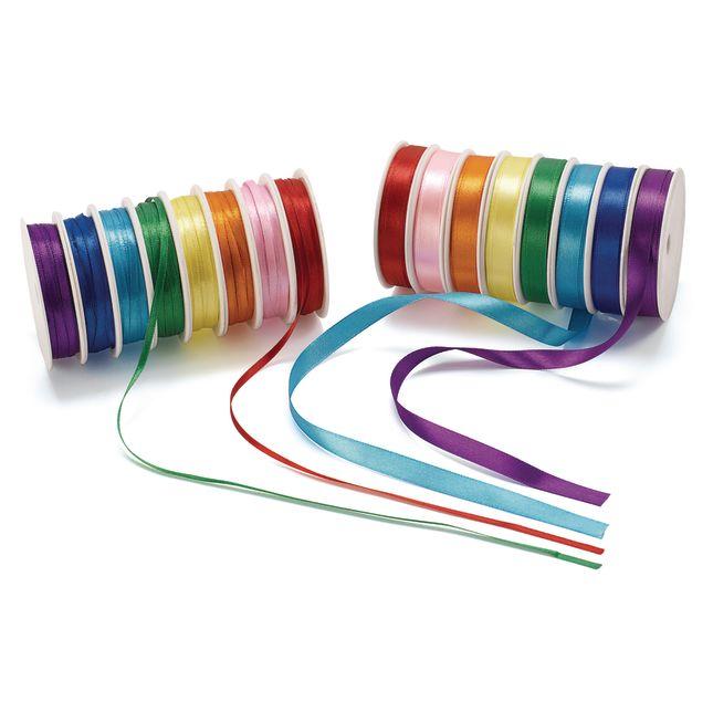 Colorations Satin Ribbon 400 Feet 16 Spools
