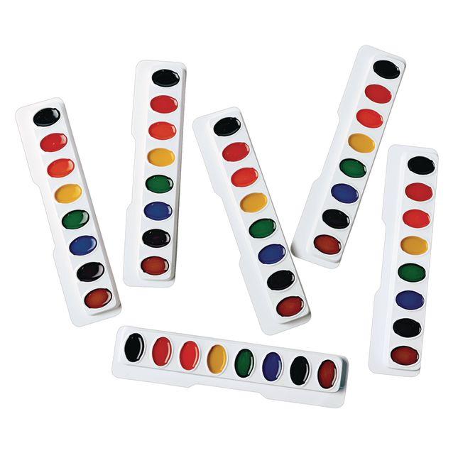 Colorations Regular Best Value Watercolor Paints Set of 6 Refills 8 Colors ea