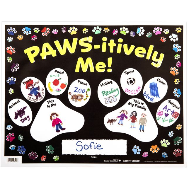 Ready-To-Decorate® All About Me Paws_1