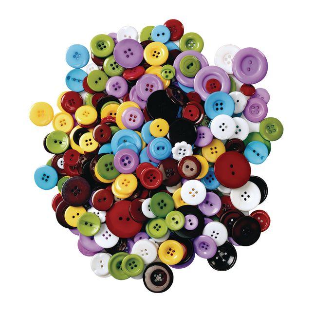 Colorations Assorted Grandmas Buttons 1 lb