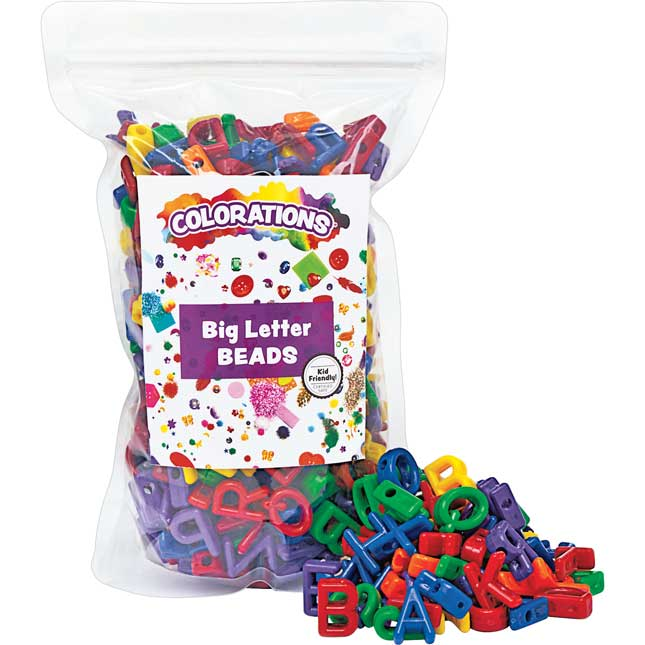 Colorations Big Letter Beads 300 Pieces