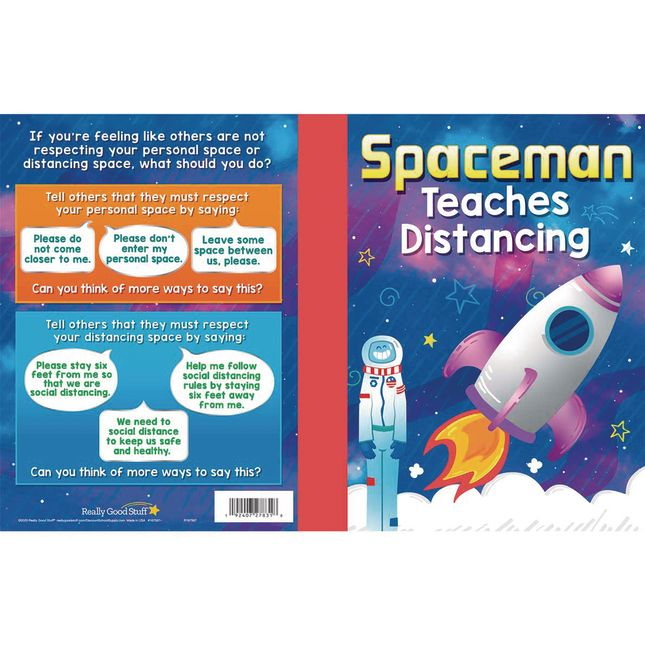 Spaceman Teaches Distancing Read Aloud Book - 12 books