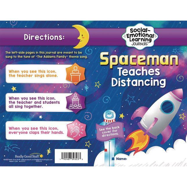 Spaceman Teaches Distancing Learning Journals - Grades Pre-K  1 - 24 journals