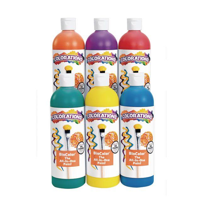 BioColor 16 oz Rainbow 6 Pack
