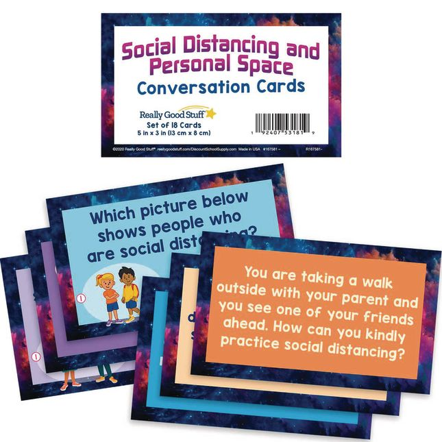 Social Distancing and Personal Space Conversation Cards - 18 cards_0