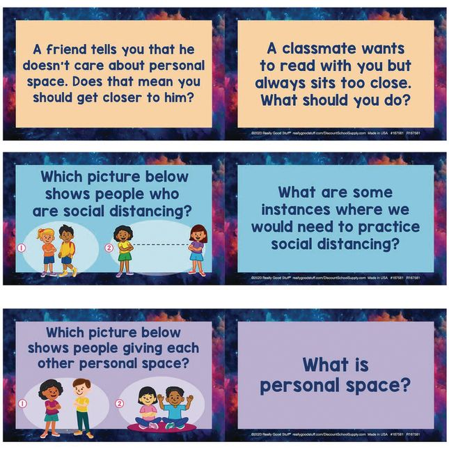 Social Distancing and Personal Space Conversation Cards - 18 cards_1