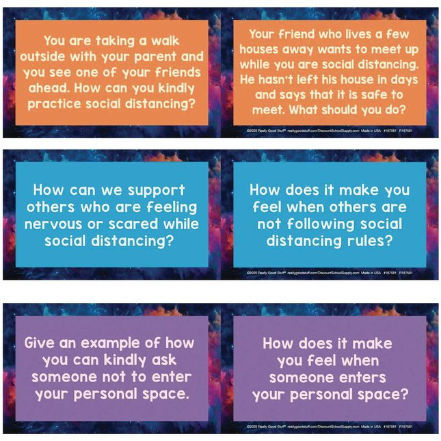 Social Distancing and Personal Space Conversation Cards - 18 cards_2