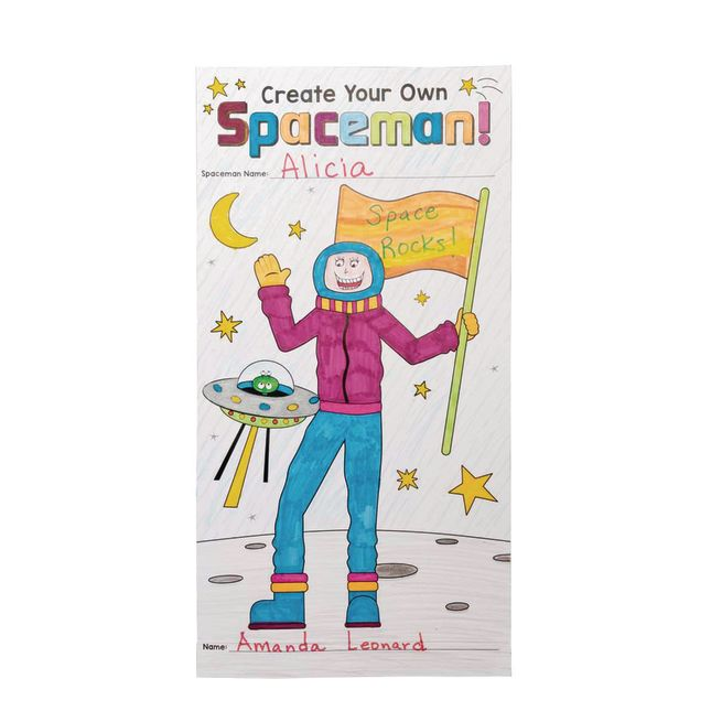 Ready-To-Decorate Spaceman Teaches Distancing Measurement Tool - 24 posters
