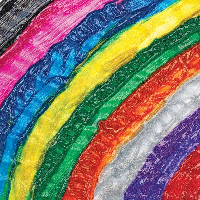 Colorations Washable Glitter Paints 16 oz Set of 11