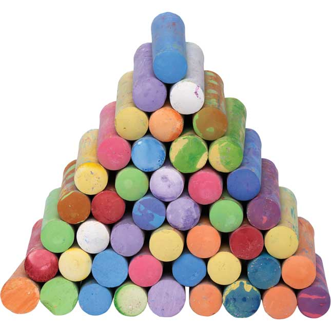Colorations Washable Sidewalk Chalk 50 Pieces