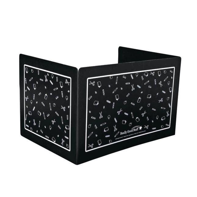 Deluxe Plastic Privacy Shield - Large Black Single